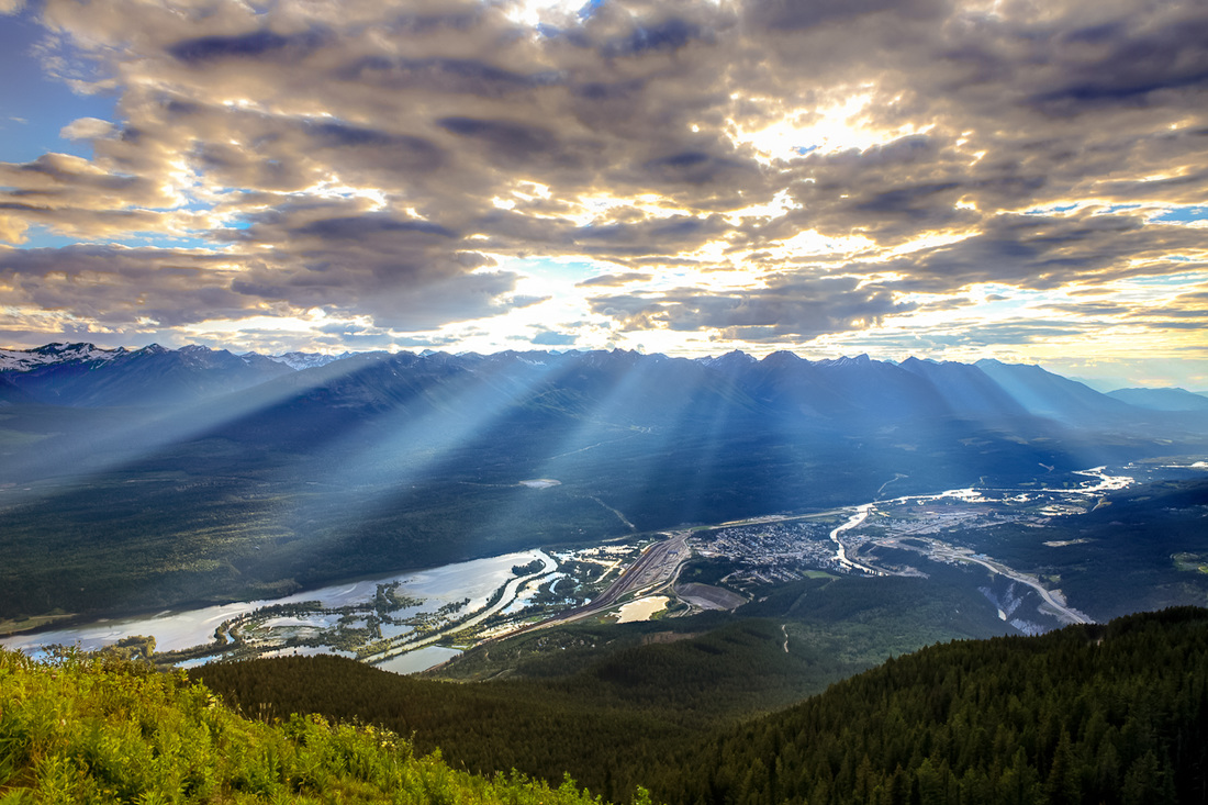 View of Golden BC